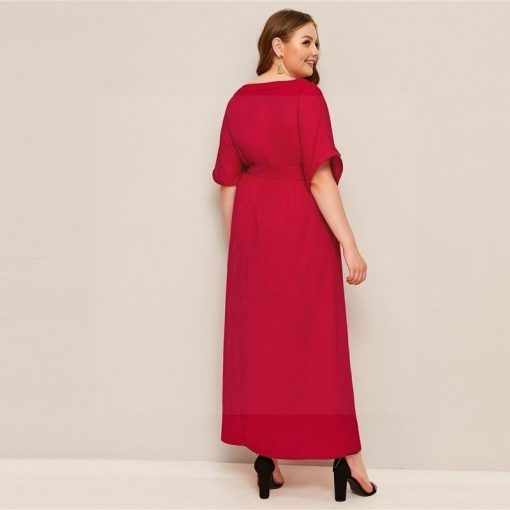 Hippie Kleid große Größe rot
